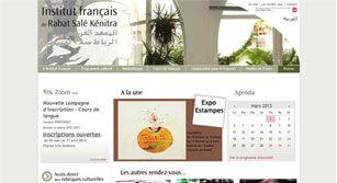 Site internet L'institut Français de Rabat