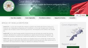 Site internet Cour des comptes