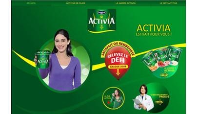 Site internet Activia / Joomla