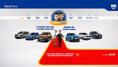 Site événementiel Auto-Expo Dacia / Site en HTML 5
