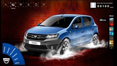Application Facebook Dacia Tuning / Jeu en flash