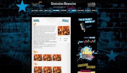 Site internet Génération mawazine / Joomla
