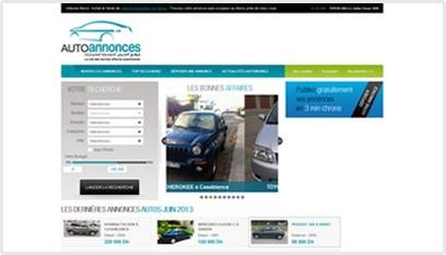 Site internet Auto annonces  / Joomla