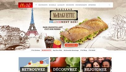 Site internet McDonald's / DRUPAL 7