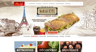 Site internet McDonald's
