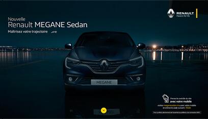 Mini-site Renault : Megane Sedan / Php, JavaScript, Css3, Htlm5