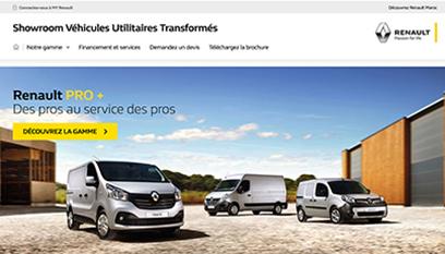 Site internet Renault VU / PHP – HTML – Vue 360° développement spécifique - Responsive design