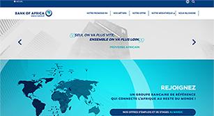Site internet Plateforme RH de Bank of Africa par Pyxicom