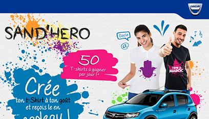 Site internet Dacia : Sand'hero / codeigniter