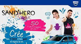 Site internet Dacia : Sand'hero