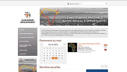 Site internet CLUB AFRIQUE DÉVELOPPEMENT / DRUPAL