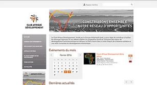 Site internet CLUB AFRIQUE DÉVELOPPEMENT