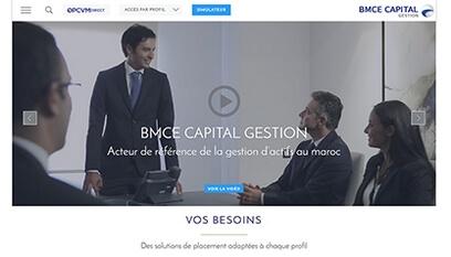 Site internet BMCE Capital Gestion / DRUPAL