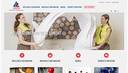Site internet Cindico / PRESTASHOP