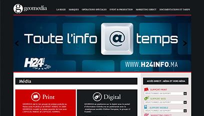 Site internet Geomedia / WORDPRESS