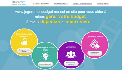 Site internet Je gére mon budget / Wordpress