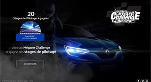 Site internet Renault Mégane Challenge