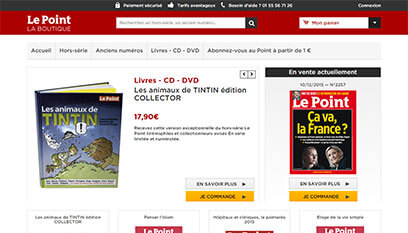 Site internet Le Point / Prestashop
