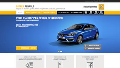 Mini-site Mini site Renault / PHP « codeigniter », HTML/CSS, JS, Responsive design