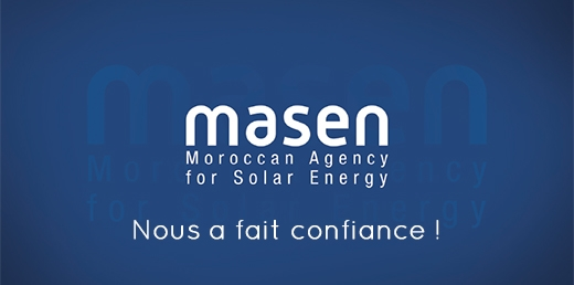 MASEN (Moroccan Agency for Solar Energy) nous a fait confiance !