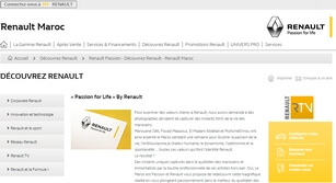 Site internet Renault passion