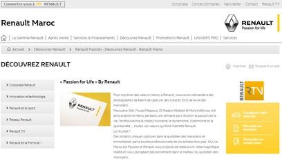 Site internet Renault passion / Codeigniter