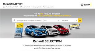 Site internet Renault Sélection