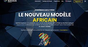 Site événementiel SAHAM Finances «Le nouveau modèle africain»