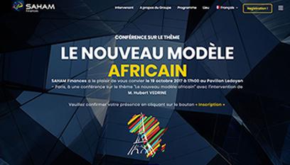 Site événementiel SAHAM Finances «Le nouveau modèle africain» / Wordpress