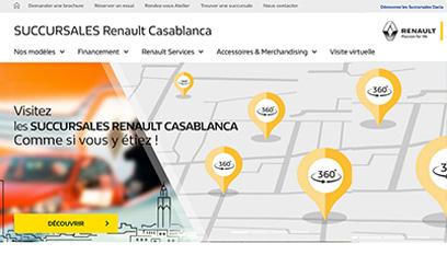 Site internet Succursales Renault Dacia  / CodeIgniter3, HTML5, CSS3, ECMAscript.