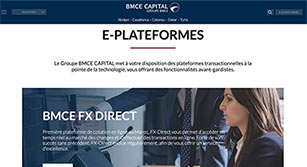 Site internet BMCE Capital