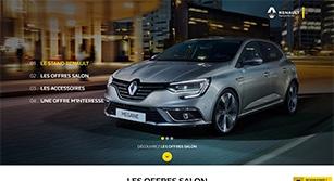 Site événementiel responsive  Salon Auto Expo Renault 2016
