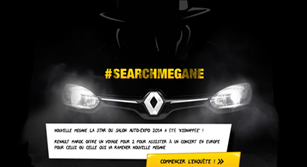 Application Facebook Renault : Search Mégane