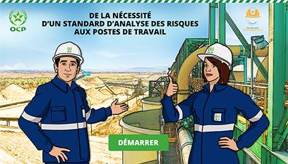 Support digital Learning Office Chérifien des Phosphates- E-learning / Storyline, Adobe character Animator, Photoshop, Illustrator,