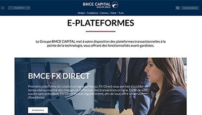 Site internet BMCE Capital / Drupal 7